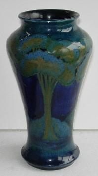 Moonlit Blue Vase William Moorcroft